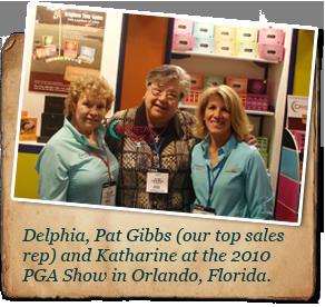 Delphi, Pat Gibbs, and Katherine at 2010 PGA Showcase Orlando, Florida
